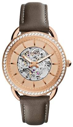 Fossil Women's Tailor Leather Strap Watch, 35mm