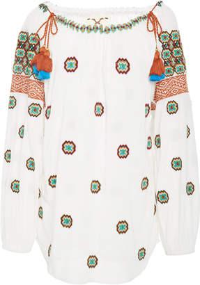 Figue Peia Tasseled Printed Cotton Top