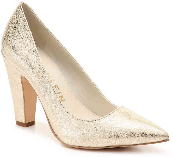Anne Klein Women's Hollyn Metallic Pump -Gold Metallic