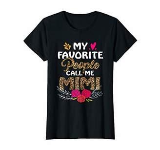 Womens Womens People Call Me Mimi t-shirt leopard print T-Shirt