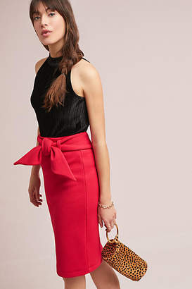 Maeve Bow-Tied Pencil Skirt