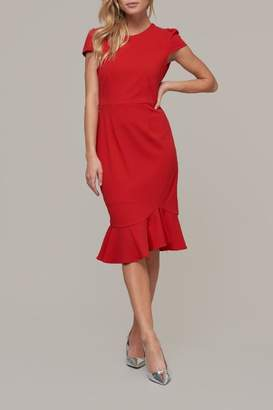 ABS by Allen Schwartz Midi Capslv Dress