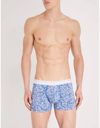 BOSS Floral slim-fit stretch-cotton trunks