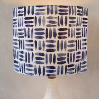Painted Pattern - Triple Weave Self-Launch Drum Lampshades