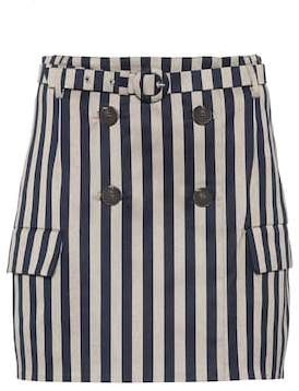 Jonathan Simkhai Striped belted skirt