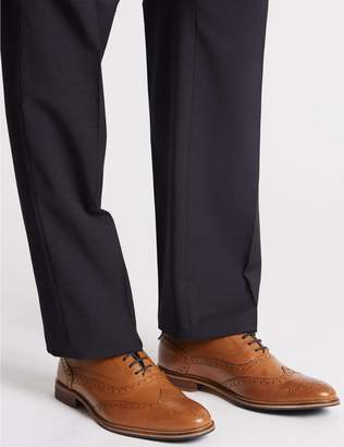 Marks and Spencer Extra Wide Fit Leather Lace-up Brogue Shoes