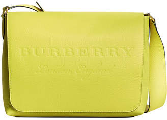 Burberry large logo embossed messenger bag