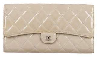 Chanel Patent Quilted Travel Wallet