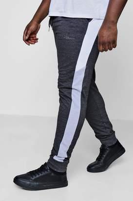 boohoo Big And Tall Skinny Fit Colour Block Joggers