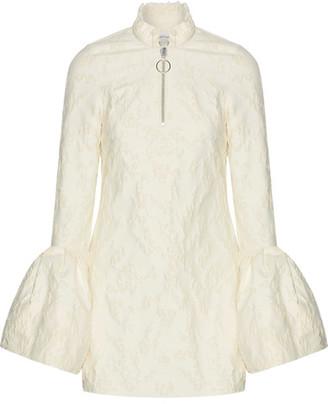 Marques' Almeida - Frayed Brocade Mini Dress - Ivory