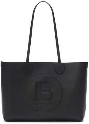Balmain Logo leather tote