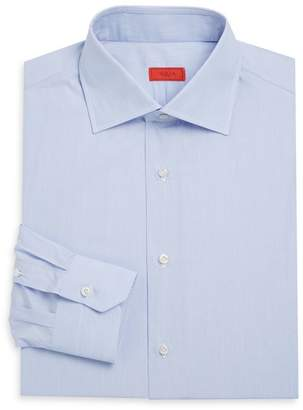 Isaia Light Blue Button-Up