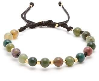 Black Dakini - Moss Agate And Gold Vermeil Bracelet - Mens - Khaki