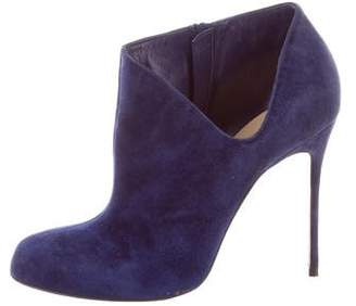Christian Louboutin Suede Round-Toe Booties