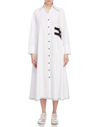 I'M Isola Marras Side Buckle Midi Shirtdress