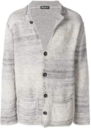 Issey Miyake Pre-Owned blurry stripes cardigan