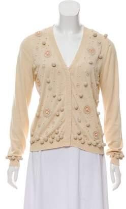 Blumarine Embellished Long Sleeve Cardigan