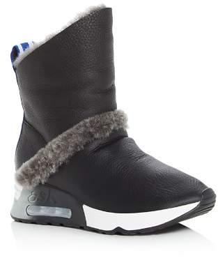 Ash Women's Laika Shearling Wedge Platform Boots