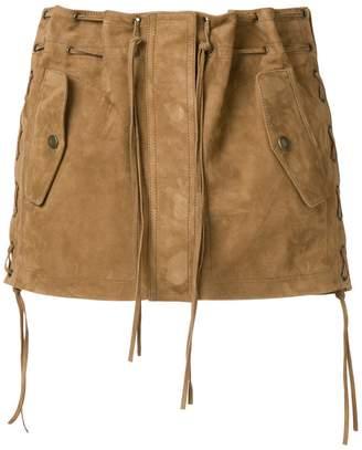Saint Laurent tasselled suede mini skirt