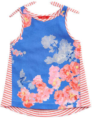 Joules Iris Floral & Striped Tank Top, Size 3-10