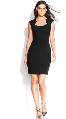 Calvin Klein Cap-Sleeve Cutout-Neckline Sheath $89.98 thestylecure.com