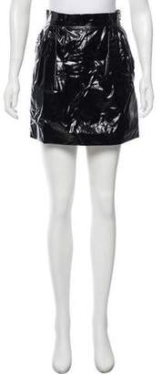 Lanvin Faux Leather Mini Skirt