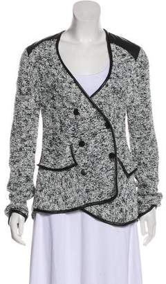 Thakoon Leather-Trimmed Bouclé Jacket