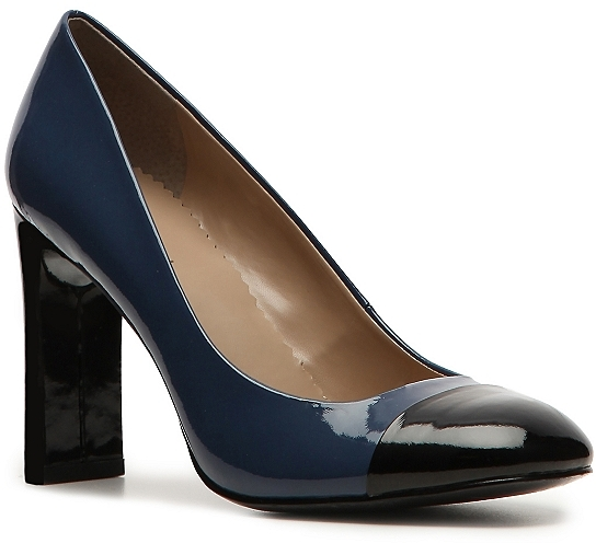 Tahari Peri Color Block Pump