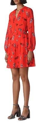Whistles Alair Feather-Print Dress