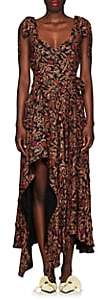 Proenza Schouler Women's Paisley Georgette Asymmetric Dress-Black