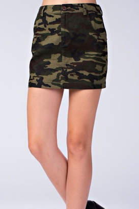 Honey Punch Camo Skirt