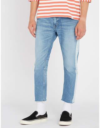Magic Stick Side-stripe regular-fit tapered jeans