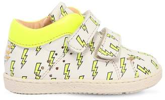 Ocra Bolt Printed Leather Strap Sneakers
