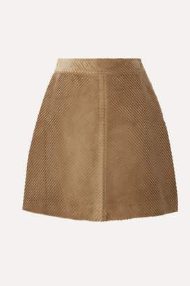 Vanessa Bruno Juna Cotton-corduroy Mini Skirt - Sand