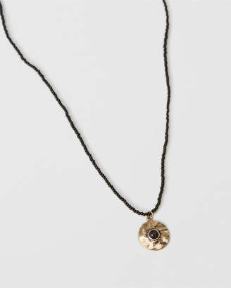 Abercrombie & Fitch Black Bead Pendant Necklace