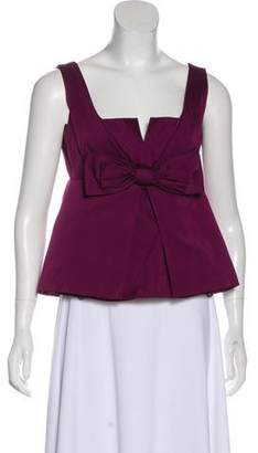RED Valentino Bow-Accented Pleated Top