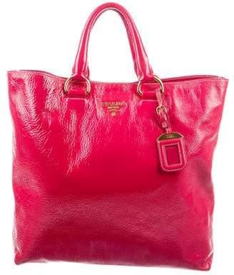 Prada Vernice Leather Shopper