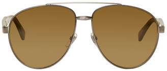 Gucci Silver Aviator Sunglasses