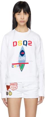 DSQUARED2 White Surf Camp Logo Diana Sweatshirt
