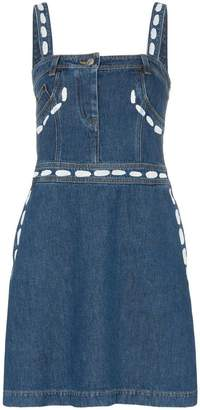 Moschino This Strap square neck denim dress