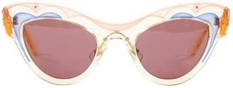 Miu Miu Yellow Plastic Sunglasses