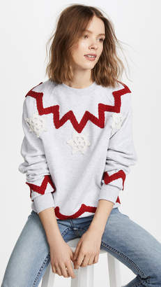 Michaela Buerger Snowflake Trio Sweatshirt