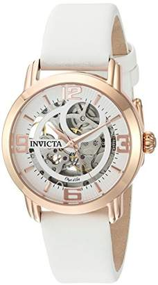 Invicta Women's 'Objet d'Art' Automatic Stainless Steel and Satin Casual Watch