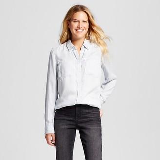 Merona Women's Favorite Shirt Indigo Stripe - Merona $24.99 thestylecure.com