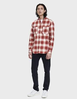 Gitman Brothers Chilean Plaid Button Up Shirt in Brick