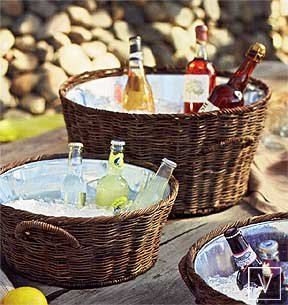 Roost Rattan Party Buckets