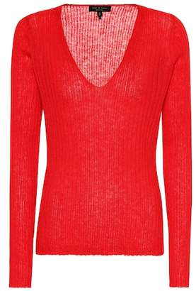 Rag & Bone Donna wool and mohair-blend sweater