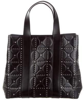 Alaia Studded Embossed Leather Tote
