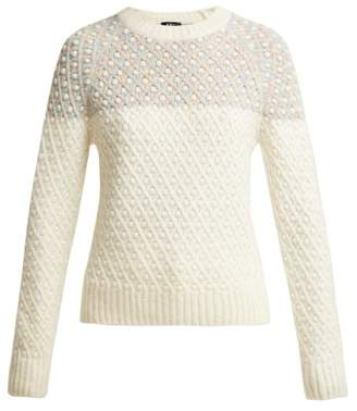 A.P.C. Laina Knitted Sweater - Womens - Cream