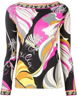 Emilio Pucci abstract print blouse